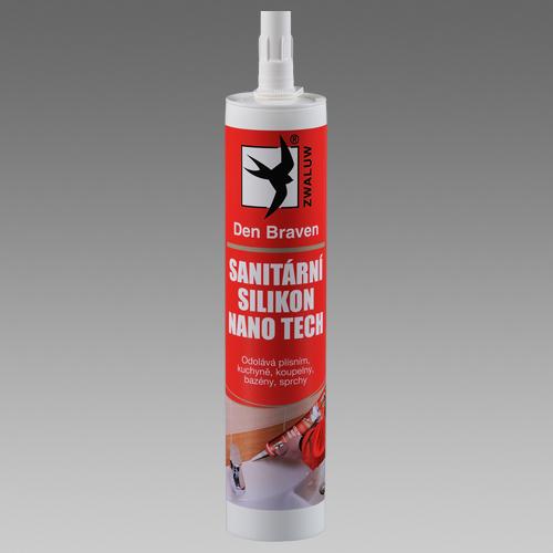 Sanitární silikon NANO TECH 310ml kartuše bílý