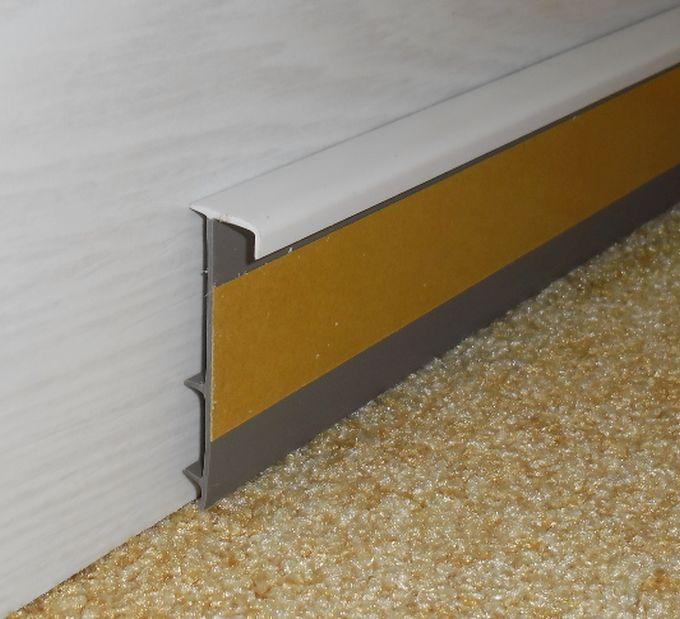 Kobercová lišta 50mm se žebrem bílá